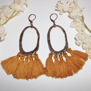 Tassel Earrings Statement Dangle Drop Set NWT4725
